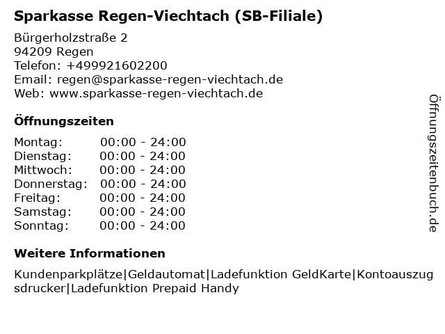 Sparkasse Regen-Viechtach - (Geldautomat Regen - Bürgerholz) in Regen: Adresse und Öffnungszeiten