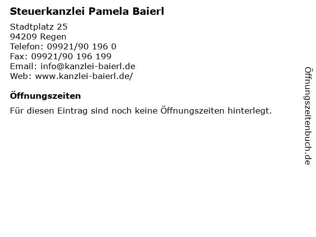 Steuerkanzlei Pamela Baierl in Regen: Adresse und Öffnungszeiten