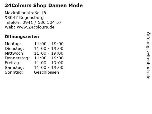 24Colours Shop Damen Mode in Regensburg: Adresse und Öffnungszeiten