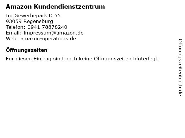 Amazon Kundendienstzentrum in Regensburg: Adresse und Öffnungszeiten