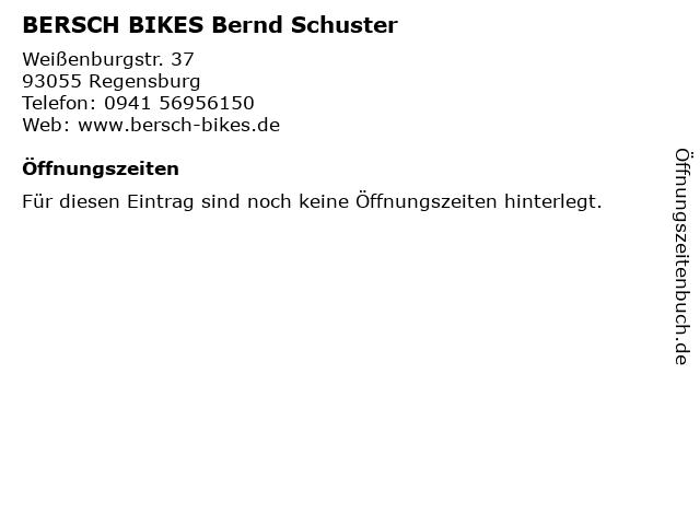 BERSCH BIKES Bernd Schuster in Regensburg: Adresse und Öffnungszeiten