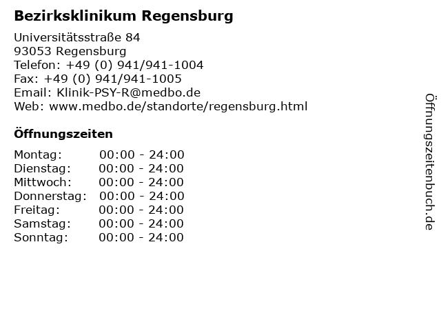 Bezirksklinikum Regensburg in Regensburg: Adresse und Öffnungszeiten