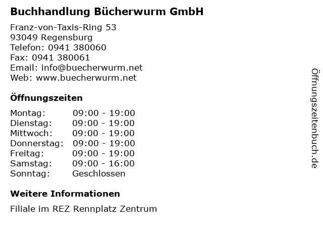 Buchhandlung Bücherwurm GmbH in Regensburg: Adresse und Öffnungszeiten