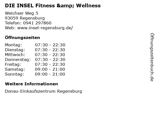 DIE INSEL Fitness & Wellness in Regensburg: Adresse und Öffnungszeiten