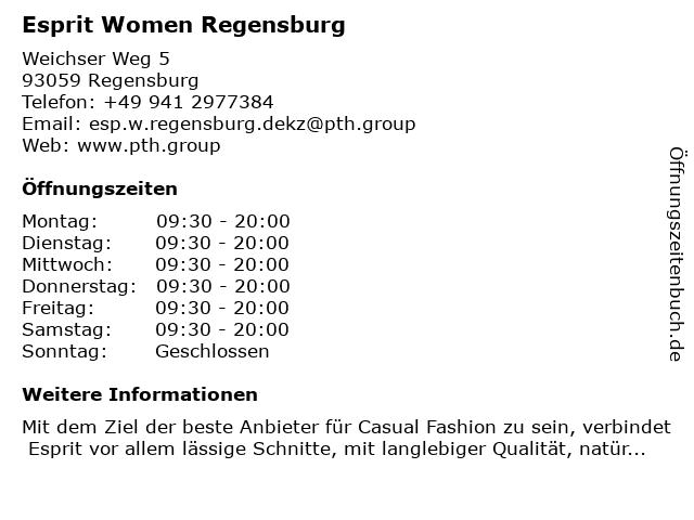 Esprit Men Regensburg in Regensburg: Adresse und Öffnungszeiten