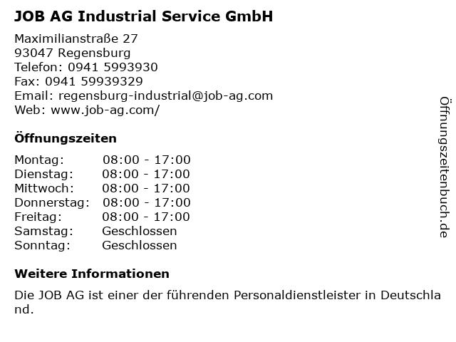 JOB AG Industrial Service GmbH in Regensburg: Adresse und Öffnungszeiten