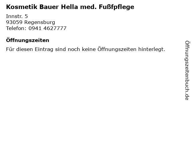 Kosmetik Bauer Hella med. Fußfpflege in Regensburg: Adresse und Öffnungszeiten