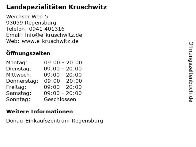 Landspezialitäten Kruschwitz in Regensburg: Adresse und Öffnungszeiten