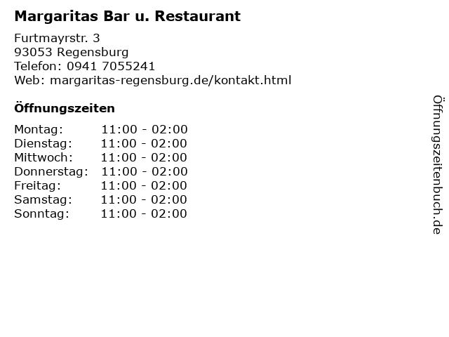 Margaritas Bar u. Restaurant in Regensburg: Adresse und Öffnungszeiten