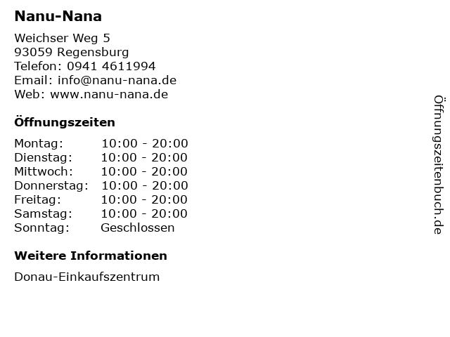 Nanu-Nana in Regensburg: Adresse und Öffnungszeiten