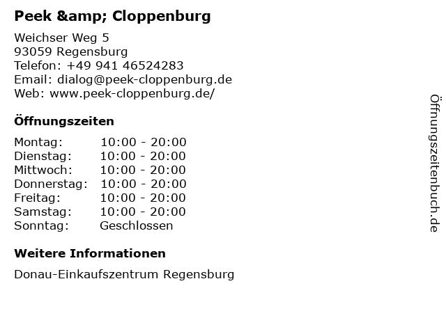 Peek & Cloppenburg KG in Regensburg: Adresse und Öffnungszeiten