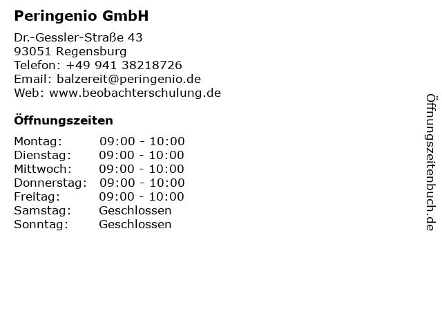 Peringenio GmbH in Regensburg: Adresse und Öffnungszeiten