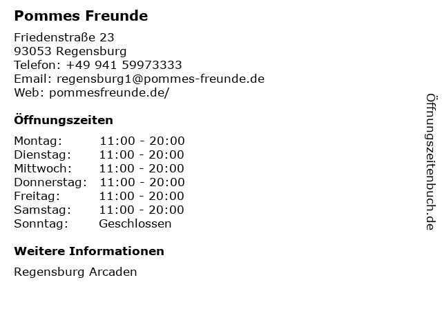 Pommes Freunde in Regensburg: Adresse und Öffnungszeiten