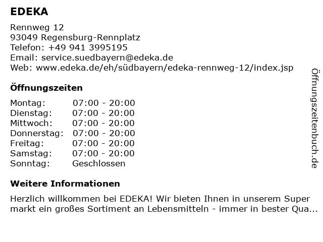 EDEKA in Regensburg: Adresse und Öffnungszeiten