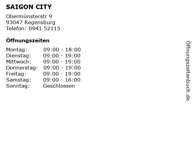 SAIGON CITY in Regensburg: Adresse und Öffnungszeiten