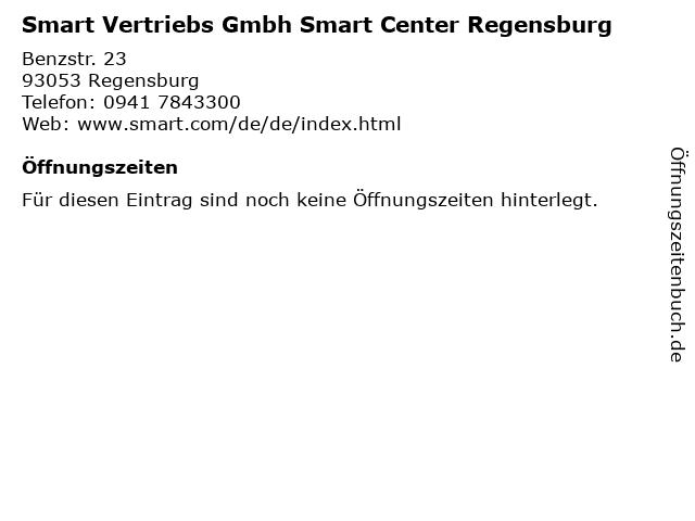 Smart Vertriebs Gmbh Smart Center Regensburg in Regensburg: Adresse und Öffnungszeiten