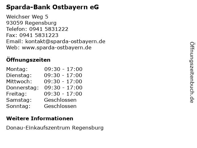 Sparda-Bank Ostbayern eG in Regensburg: Adresse und Öffnungszeiten