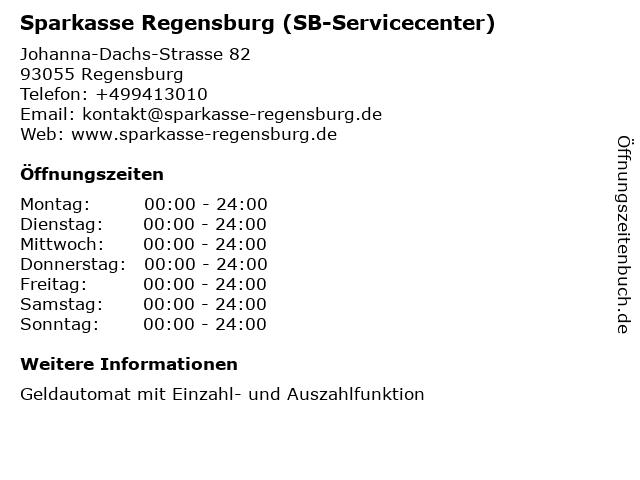 Sparkasse Regensburg in Regensburg: Adresse und Öffnungszeiten