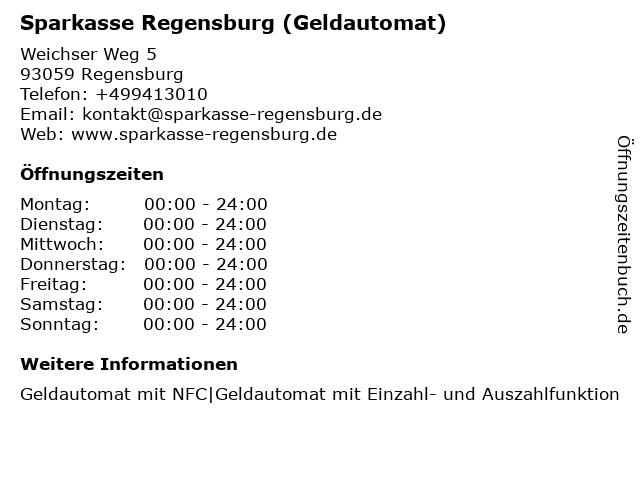 Sparkasse Regensburg - KompetenzCenter Donau-Einkaufszentrum in Regensburg: Adresse und Öffnungszeiten
