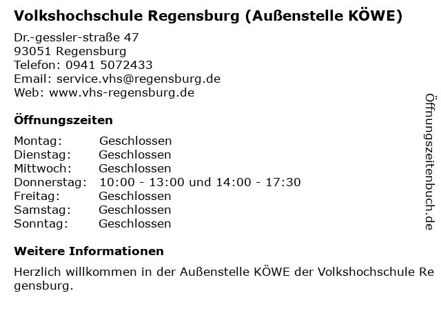 Stadt Regensburg, BildungsCenter BiC in Regensburg: Adresse und Öffnungszeiten