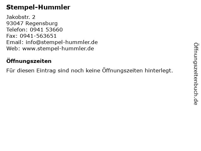 Stempel-Hummler in Regensburg: Adresse und Öffnungszeiten