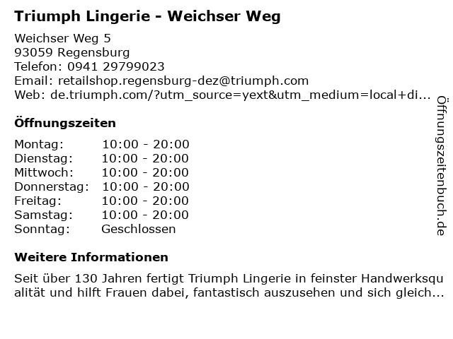 Triumph Shop in Regensburg: Adresse und Öffnungszeiten