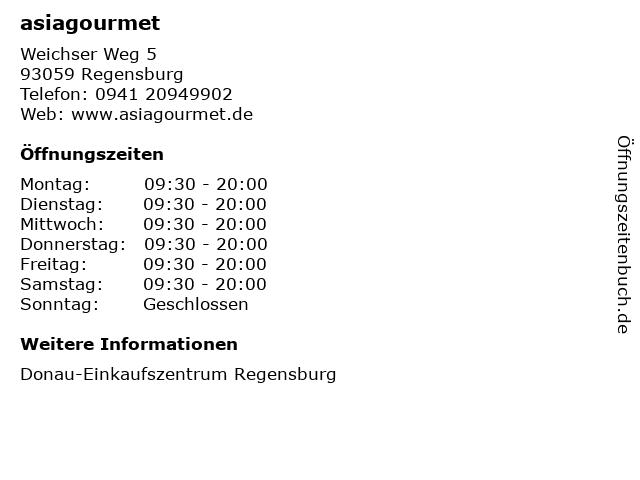 asiagourmet GmbH in Regensburg: Adresse und Öffnungszeiten