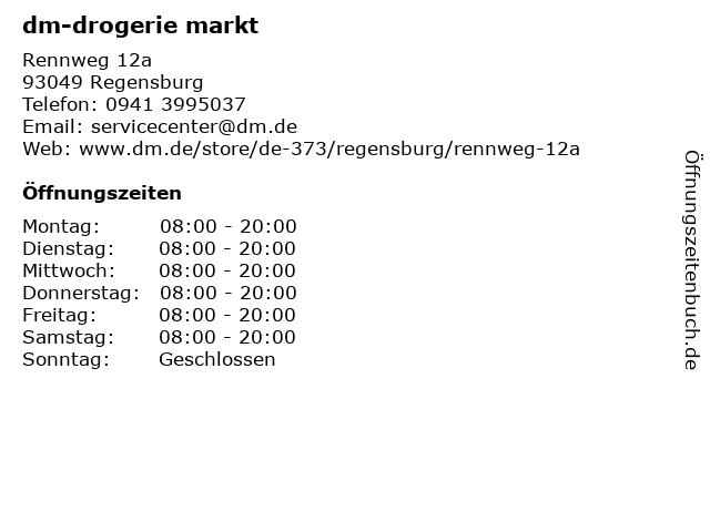 dm-drogerie markt GmbH + Co. KG in Regensburg: Adresse und Öffnungszeiten