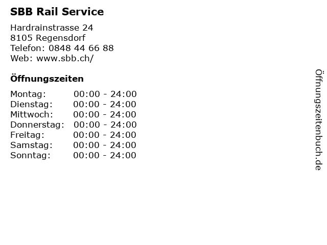 SBB Rail Service in Regensdorf: Adresse und Öffnungszeiten