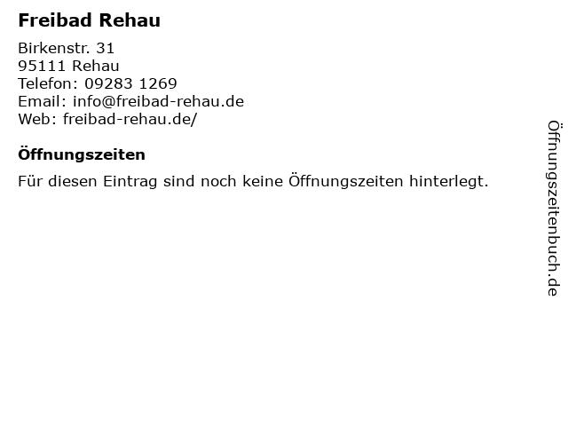 Freibad Rehau in Rehau: Adresse und Öffnungszeiten