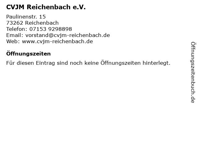 CVJM Reichenbach e.V. in Reichenbach: Adresse und Öffnungszeiten