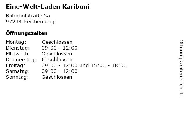 Eine-Welt-Laden Karibuni in Reichenberg: Adresse und Öffnungszeiten