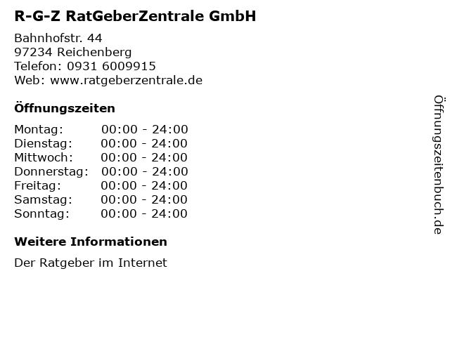 R-G-Z RatGeberZentrale GmbH in Reichenberg: Adresse und Öffnungszeiten