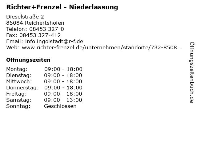 Richter+Frenzel - Niederlassung in Reichertshofen: Adresse und Öffnungszeiten