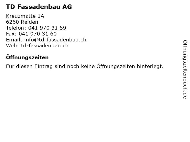 TD Fassadenbau AG in Reiden: Adresse und Öffnungszeiten