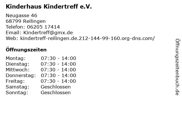 Kinderhaus Kindertreff e.V. in Reilingen: Adresse und Öffnungszeiten