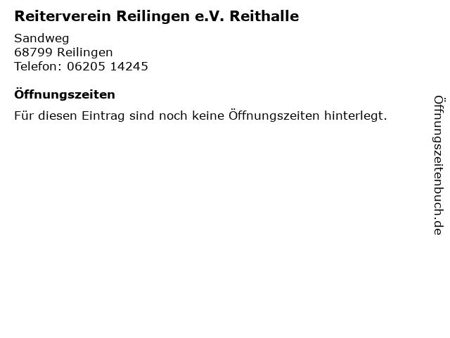 Reiterverein Reilingen e.V. Reithalle in Reilingen: Adresse und Öffnungszeiten
