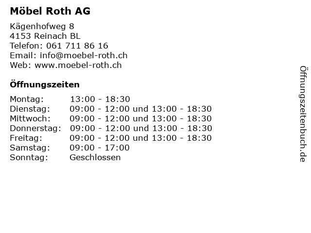 Möbel Roth AG in Reinach BL: Adresse und Öffnungszeiten