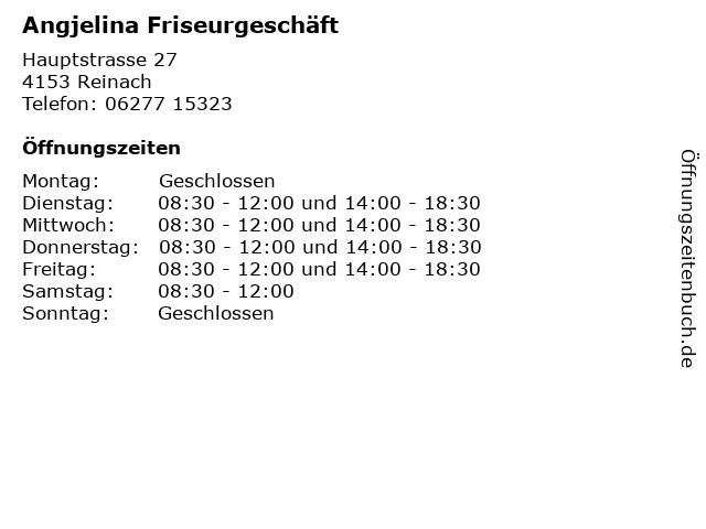 Angjelina Friseurgeschäft in Reinach: Adresse und Öffnungszeiten