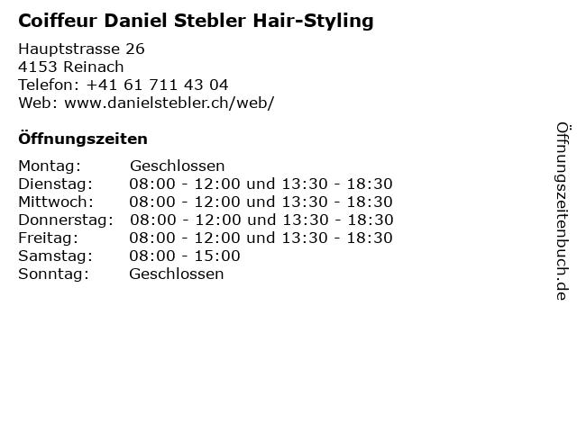Coiffeur Daniel Stebler Hair-Styling in Reinach: Adresse und Öffnungszeiten