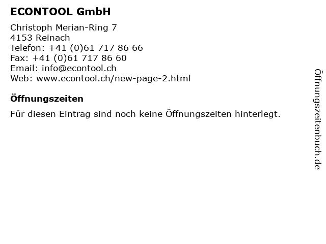 ECONTOOL GmbH in Reinach: Adresse und Öffnungszeiten