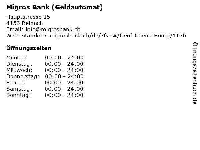 Migros Bank Basel Offnungszeiten