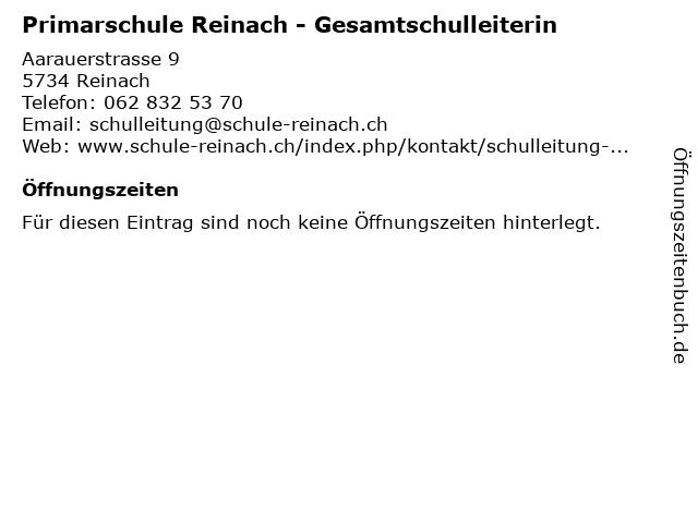 Primarschule Reinach - Gesamtschulleiterin in Reinach: Adresse und Öffnungszeiten