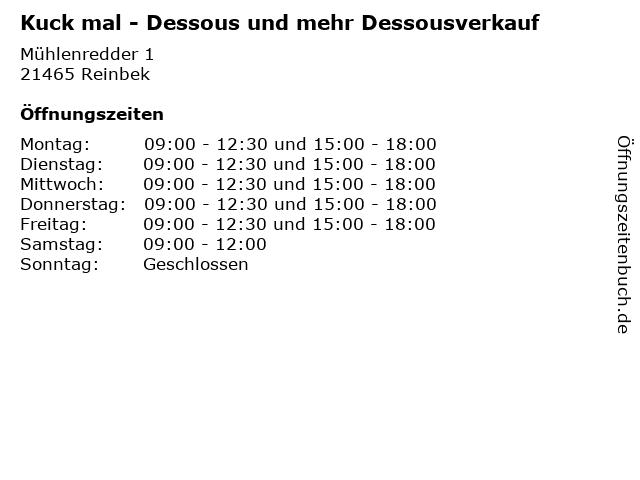Kuck mal - Dessous und mehr Dessousverkauf in Reinbek: Adresse und Öffnungszeiten
