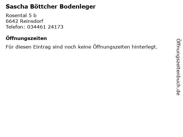 Sascha Böttcher Bodenleger in Reinsdorf: Adresse und Öffnungszeiten