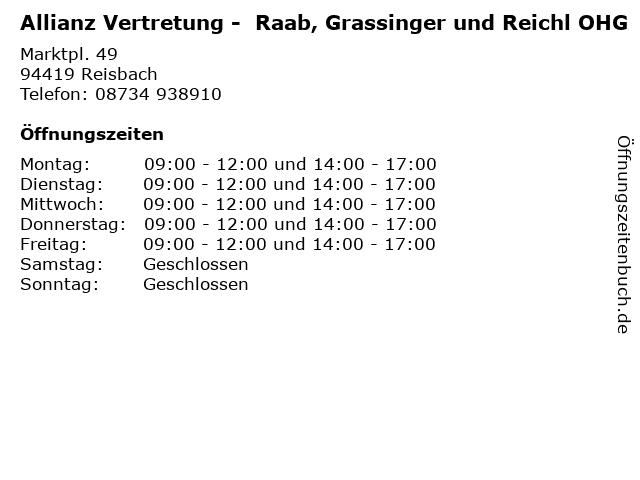 Allianz Vertretung -  Raab, Grassinger und Reichl OHG in Reisbach: Adresse und Öffnungszeiten