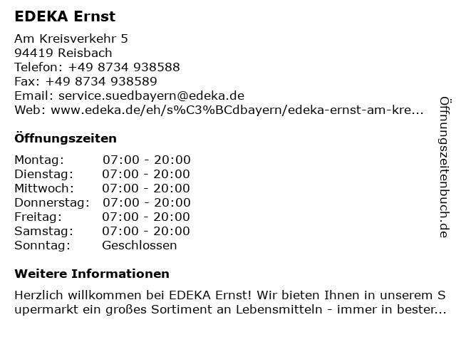 EDEKA Ernst in Reisbach: Adresse und Öffnungszeiten