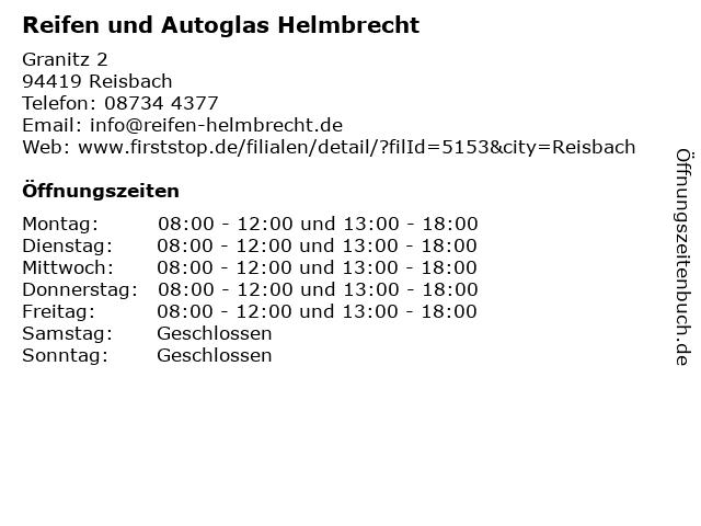 Reifen und Autoglas Helmbrecht in Reisbach: Adresse und Öffnungszeiten