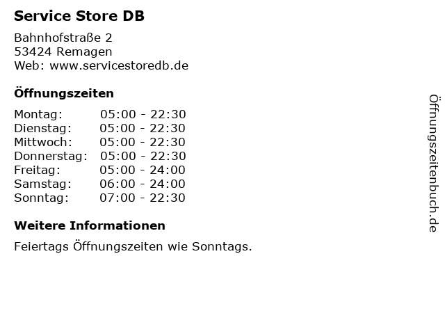 Service Store DB in Remagen: Adresse und Öffnungszeiten