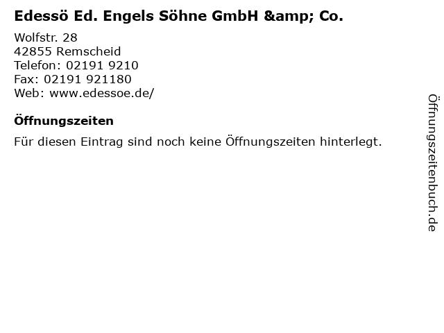 Edessö Ed. Engels Söhne GmbH & Co. in Remscheid: Adresse und Öffnungszeiten